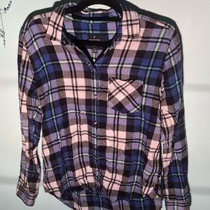American Eagle Flannel Boyfriend Shirt (flannel)